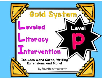 LLI Gold System Student Lesson Activities- Level P
