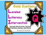 LLI Gold System Student Lesson Activities- Level Q