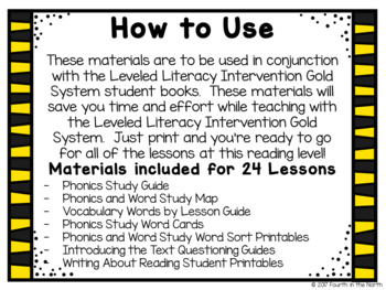 LLI Gold System Student Lesson Activities- Level T