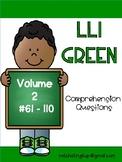 LLI Green Comprehension Questions Volume 2 (#61-110) First