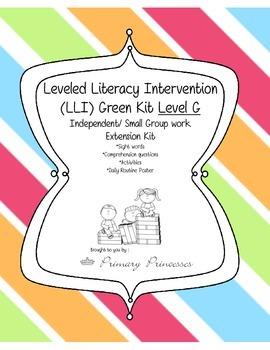 LLI Green Kit Level G Remediation/ Small Group Kit