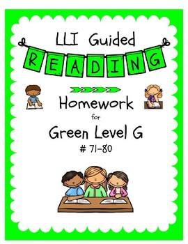 LLI Green Level G Homework #71-80