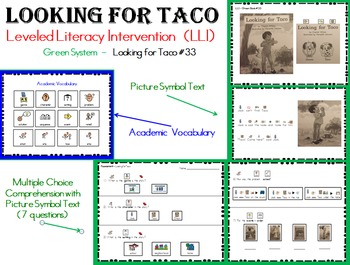 LLI Green System Book  #33 (Looking for Taco) Modified & Comprehension