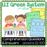 LLI GREEN Kit Comprehension Lessons 111 - 120
