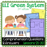 LLI GREEN Kit Comprehension Lessons 21 - 30
