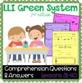 LLI GREEN Kit Comprehension Lessons 31 - 40