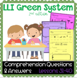 LLI GREEN Kit Comprehension Lessons 31 - 40