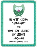 """LLI Green System Lessons #60-64 """"Warm-Up"""" and """"Check Your"""
