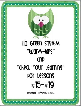 "LLI Green System Lessons #75-79 ""Warm-Up"" and ""Check Your Learning"""