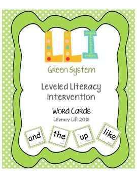 Green System Word Cards