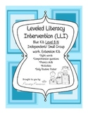 Blue LLI Independent/ Small Group work Extension Kit level