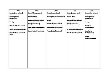 Lli Lesson Plan Template By Justagirl125 Teachers Pay Teachers