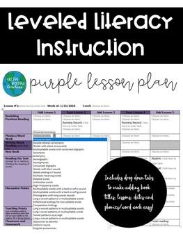 Lli Lesson Plan Template Purple Kit By Asset Based Teaching Tpt