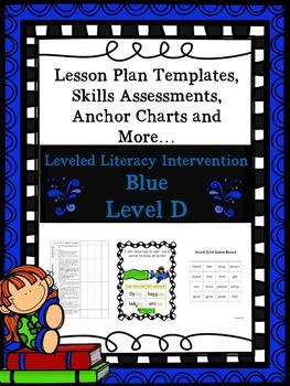 LLI Anchor Charts Skills Assessments Lesson Plan Templates More Blue D Version 1