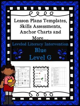 LLI Anchor Chart Skill Assessments Lesson Plan Templates More Blue G 1st Edition