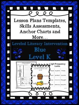 LLI Anchor Charts Skills Assessments Lesson Plan Templates Blue K 1st Edition