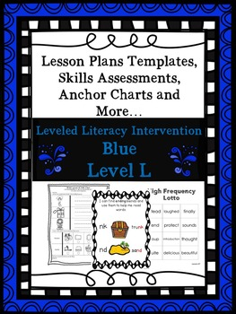 LLI Anchor Charts Skills Assessment Lesson Plan Template More Blue L 1st Edition