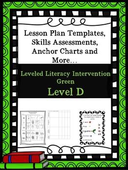 LLI Anchor Charts Skill Assessment Lesson Plan Templates Green Level D Version 1