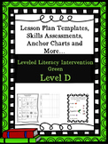 LLI Anchor Chart Skill Assessment Lesson Plan Template Green Level D 1st Edition