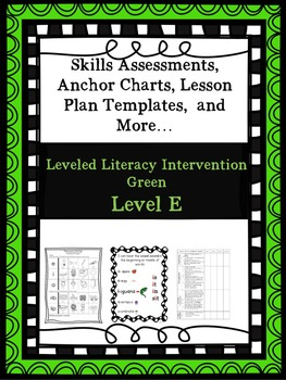 LLI Anchor Charts Skill Assessment Lesson Plan Template More Green E 1st Edition