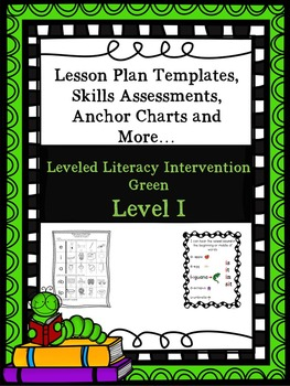 LLI Anchor Charts Skill Assessment Lesson Plan Template More Green I 1st Edition