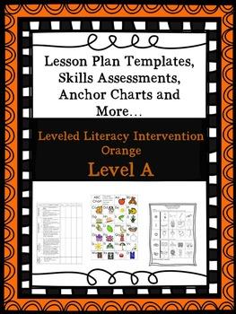LLI Anchor Charts Skill Assessment Lesson Plan Templates Orange A 1st Edition