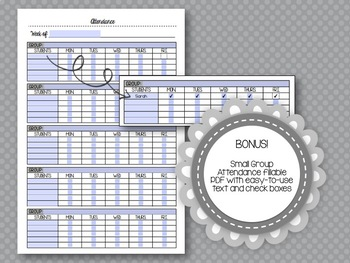 LLI Lesson Templates for Orange, Green, Blue and Red Kits