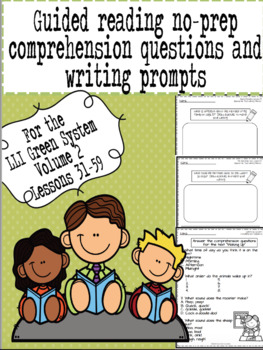 Green LLI No-Prep Comprehension Questions and Writing Prompts Part 2!