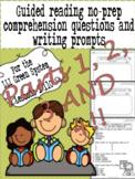 Green LLI No-Prep Comprehension Questions and Writing Prompts Parts 1-4!