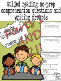Green LLI No-Prep Comprehension Questions and Writing Prompts Part 1 AND Part 2!