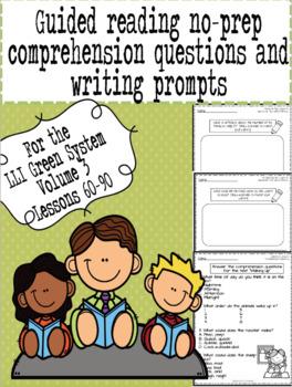 Green LLI No-Prep Comprehension Questions and Writing Prompts Part 3!