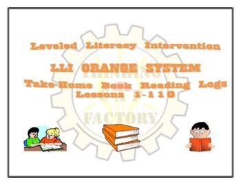 LLI Orange Take Home Reading Logs (Lessons 1-70)