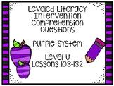 Leveled Literacy Intervention Purple Kit Level U