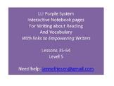 LLI Purple System Level S Interactive Notebook & Vocabulary