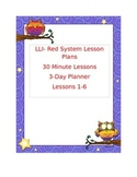 LLI RED SYSTEM LESSON PLAN 1-6