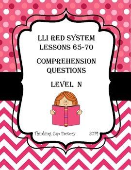 LLI RED System Bundle of Comprehension Questions (Vol. 2) & Bonus Freebie