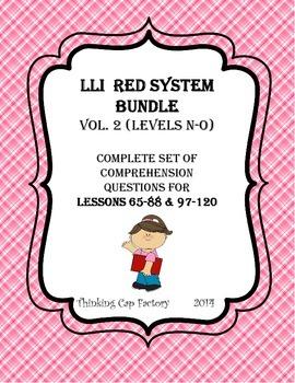 LLI RED System Bundle of Comprehension Questions (Vol. 2)