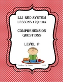 LLI RED System Comprehension Questions for Lessons 129-134