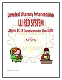 LLI RED System Comprehension Questions for Lessons 13-18