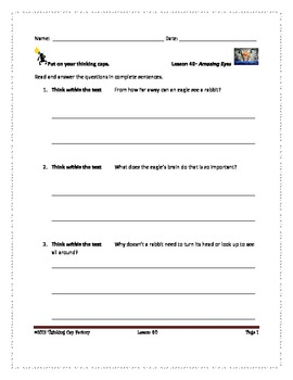 LLI RED System Comprehension Questions for Lessons 39-44