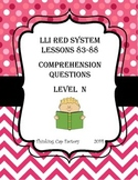 LLI RED System Comprehension Questions for Lessons 83-88
