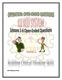 LLI Red System Lessons 1-6 Open Ended Questions
