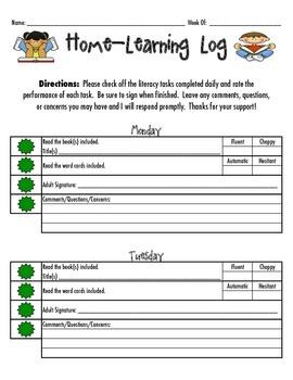 LLI / Reading Home-Learning Log