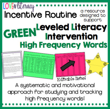 LLI Reading Logs AND HF Word Incentive Routine BUNDLE