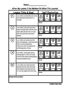 "Red ""I Can Reflect"" Worksheets Lessons 97 - 128"