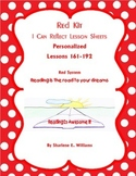 "LLI Red Kit ""I Can Reflect"" Worksheets lessons 161-192 Novel & Test Prep"