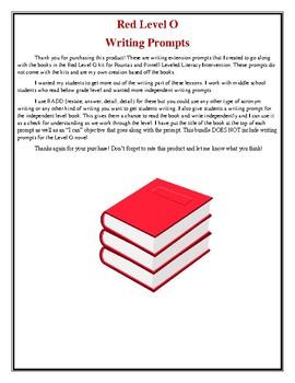 LLI Red Level O Writing Prompts
