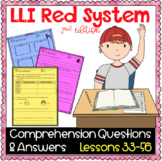 LLI Red Kit Comprehension Lessons 33 - 56
