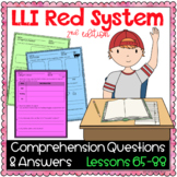 LLI Red Kit Comprehension Lessons 65 - 88
