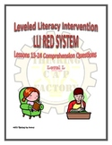 LLI Red System Comprehension Questions for Lessons 13-24